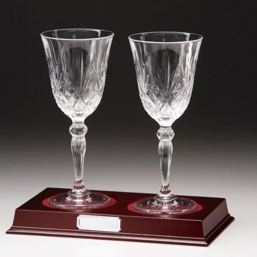 Lindisfarne St Joseph Crystal Wine Glasses 220mm